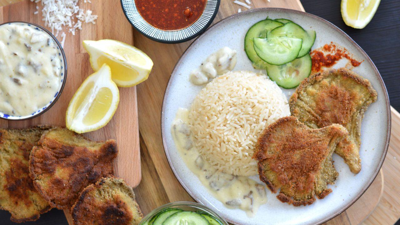 rezept für vegetarische Austernpilz-schnitzel | www.dearlicious.com
