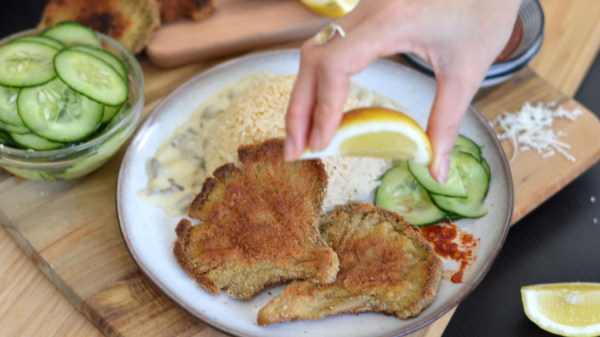 rezept für vegetarische Austernpilz-schnitzel   www.dearlicious.com