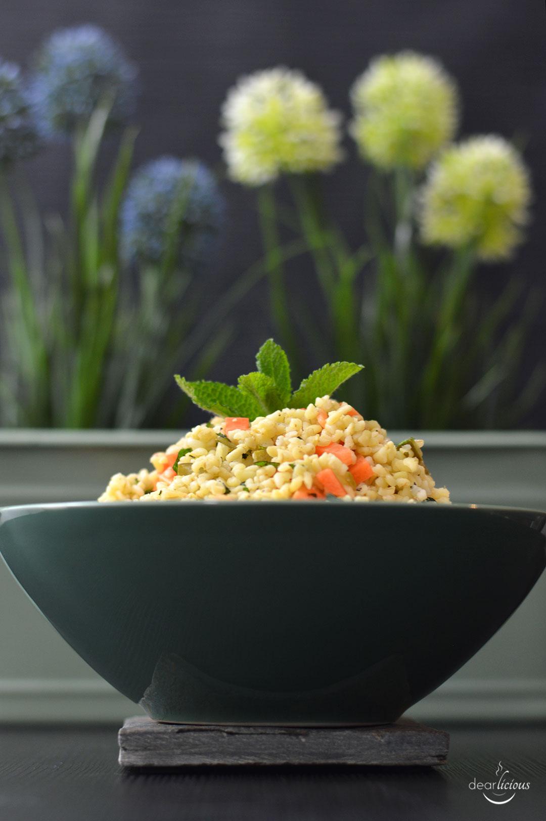 Rezept für Bulgursalat - Mittagessen zum Mitnehmen | www.dearlicious.com