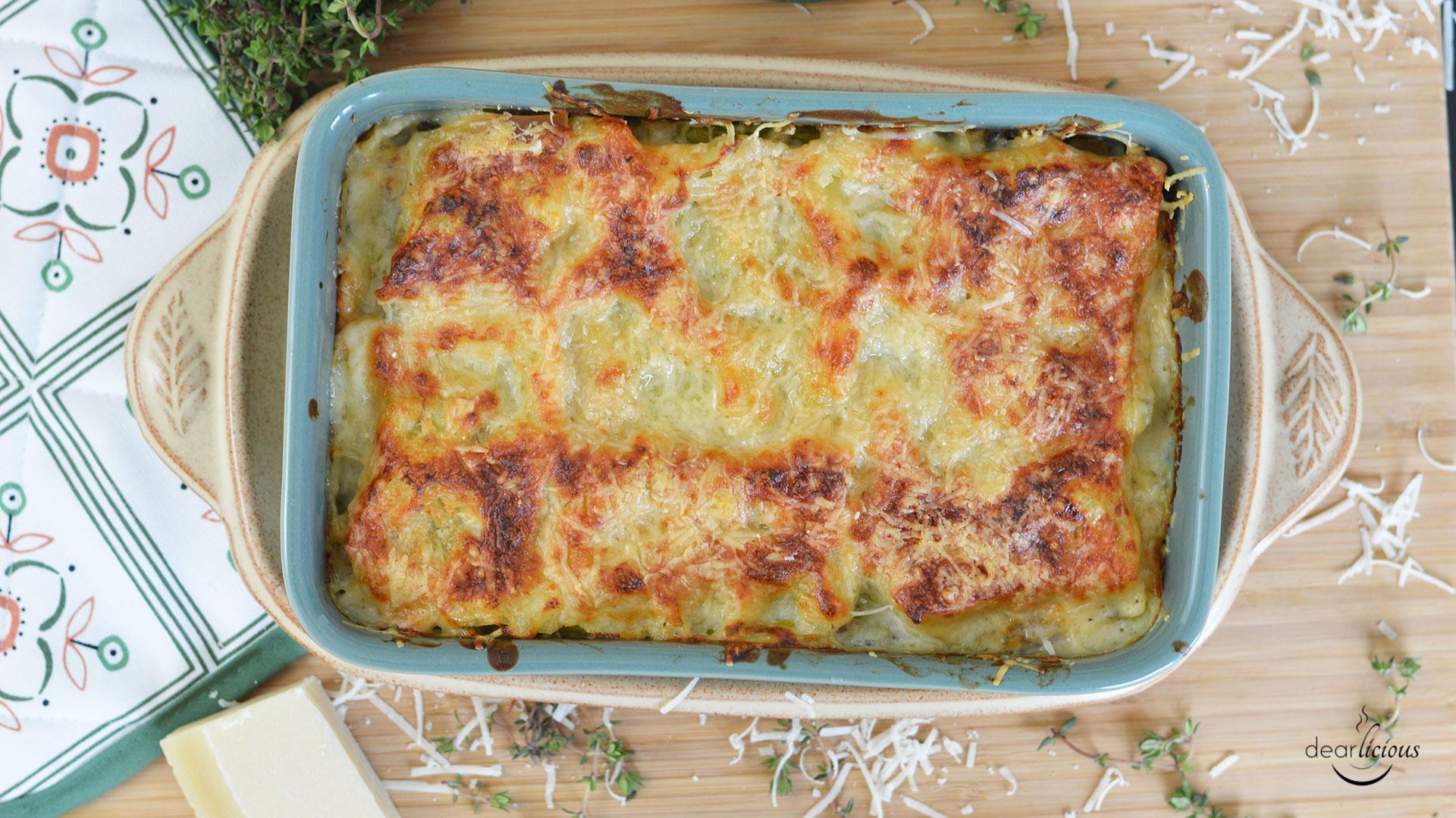 Rezept für cremige Spargellasagne | www.dearlicious.com