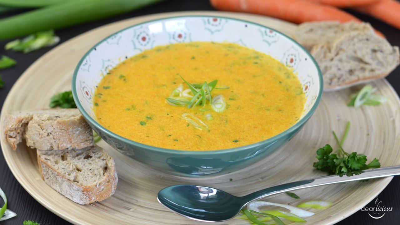 Rezept für Karottensuppe | www.dearlicious.com