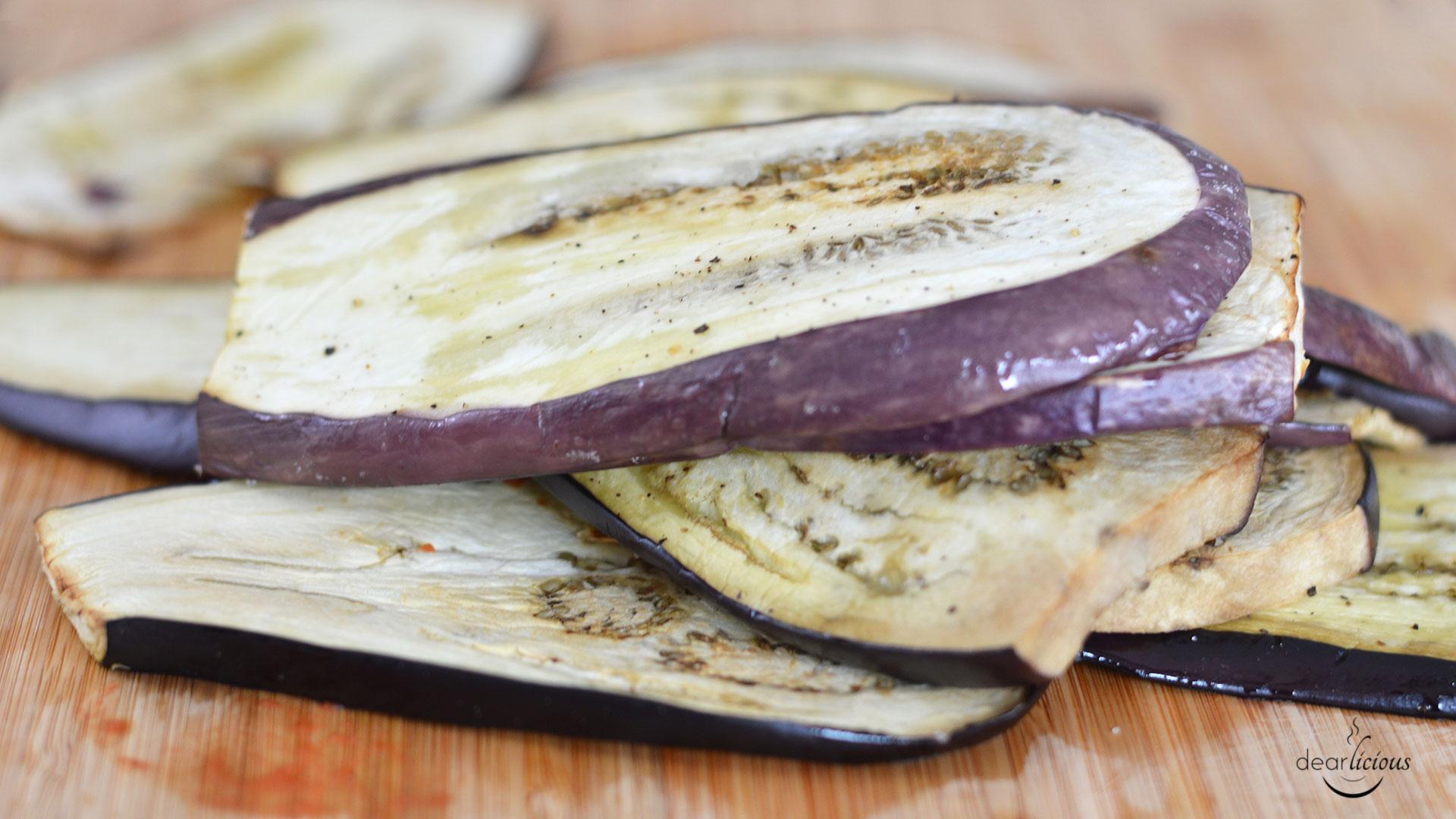 Rezept für Auberginenauflauf   www.dearlicious.com