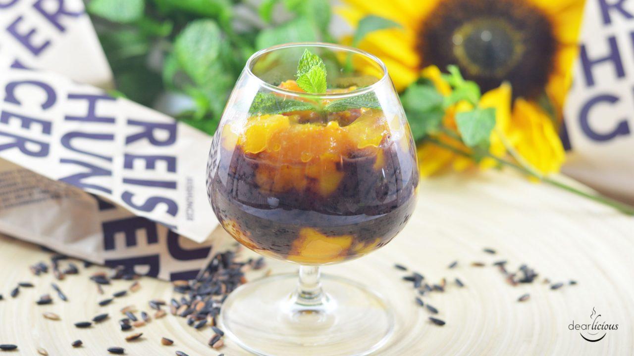 Rezept für schwarzen Klebreispudding mit karamellisierter Mango und Reishunger-Verlosung | www.dearlicious.com
