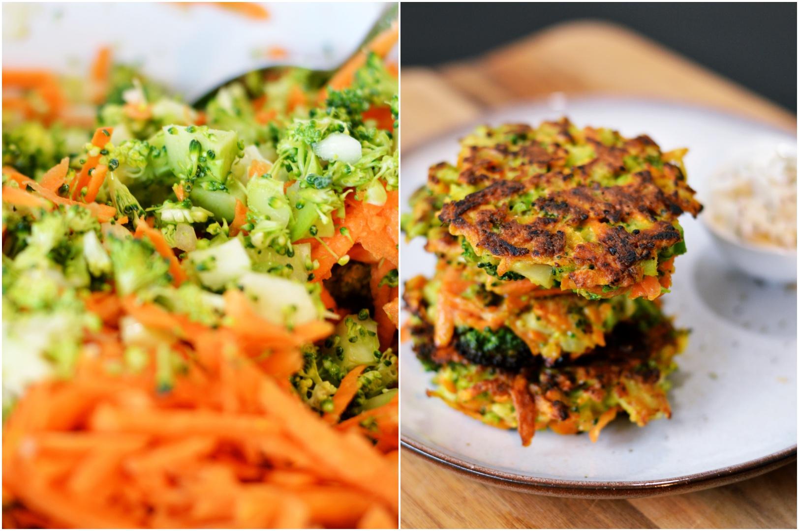 Rezept für Brokkoli-Süßkartoffel-Puffer | www.dearlicious.com
