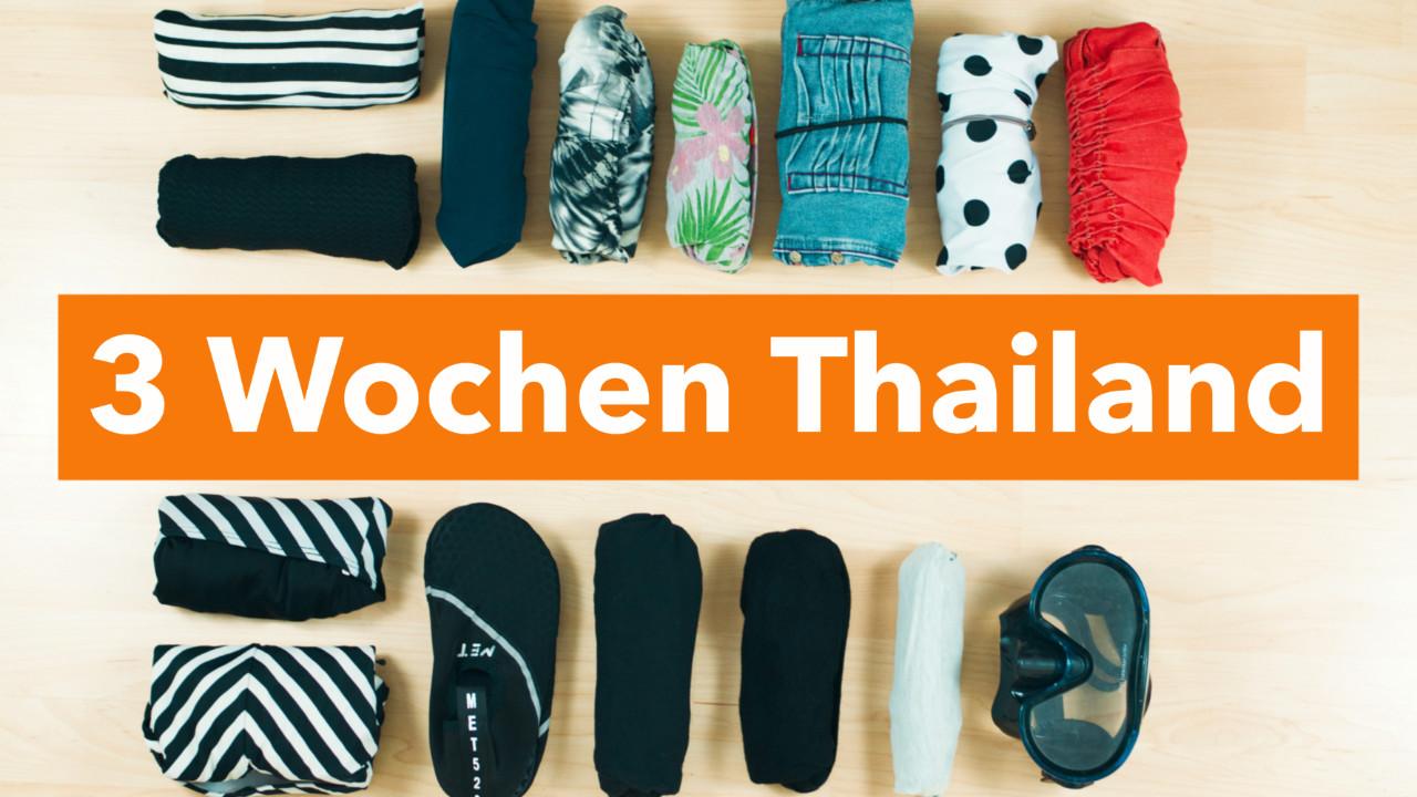 Packliste für 3 Wochen Thailand nur mit Handgepäck | www.dearlicious.com
