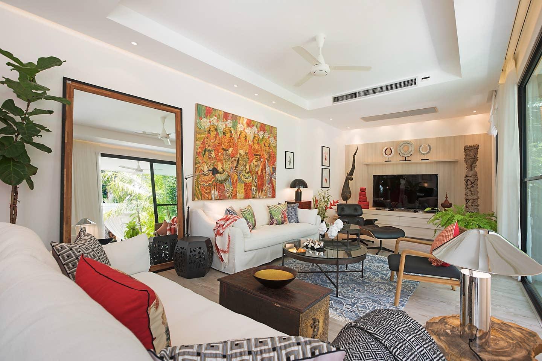 Villa Celeste Wohnzimmer - Unterkunft auf Koh Samui Review | Foto: Villa Celeste