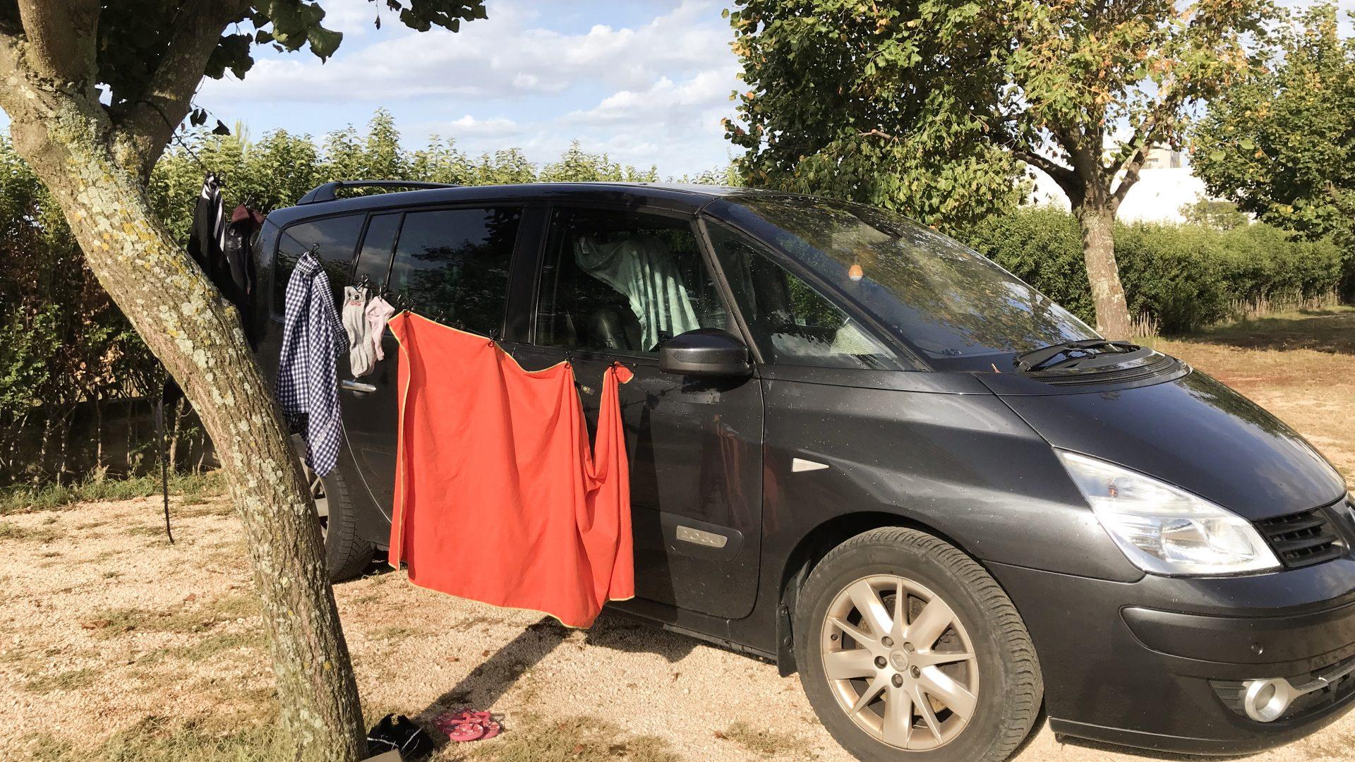 Reisegadget für Camping: Mobile Wäscheleine