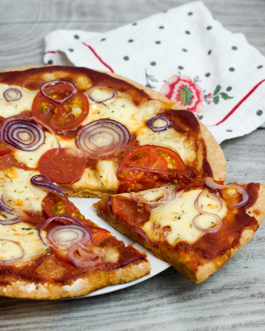 Rezept für gesunde Vollkorn-Pizza | www.dearlicious.com